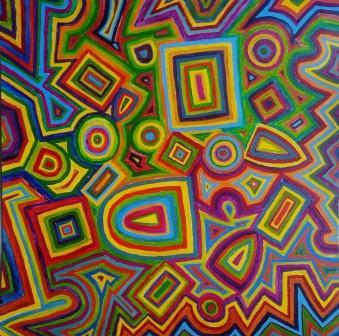 acryl op papier