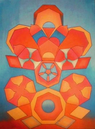 parelmoerverf op canvas