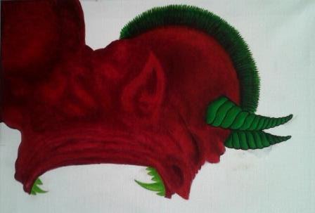 acrylverf op canvas , deel van een drieluik