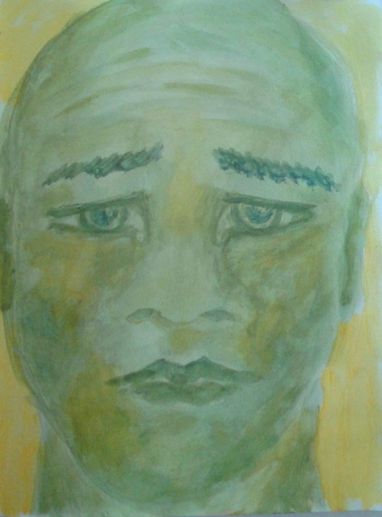 acryl op papier A4