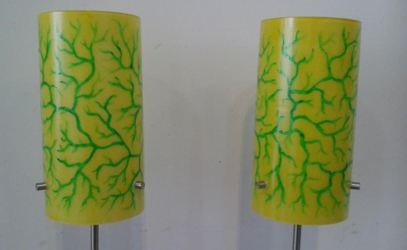 glasverf op lampen