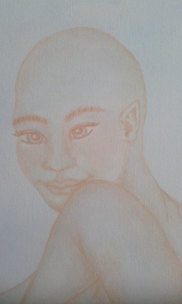 acryl op canvas 1.20 x 80