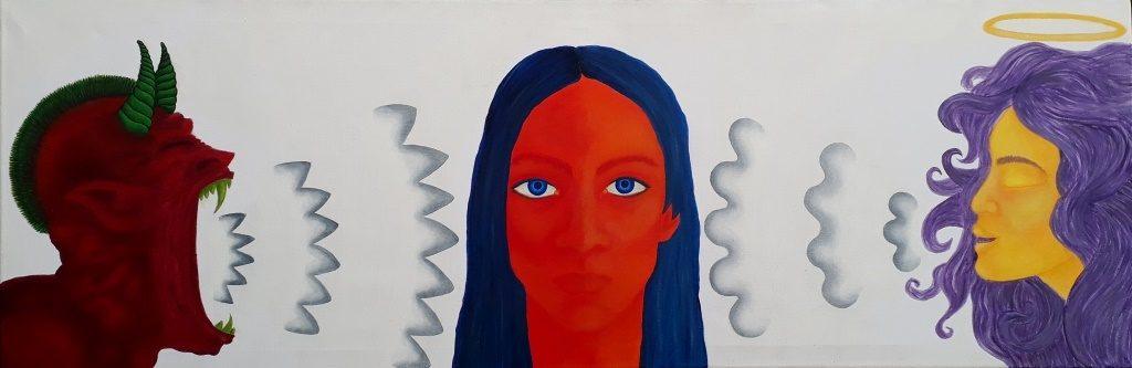 acryl op canvas 1.20x60