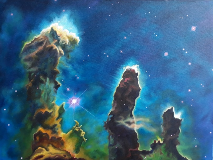 Pillars of Creation, acryl op canvas 60x80