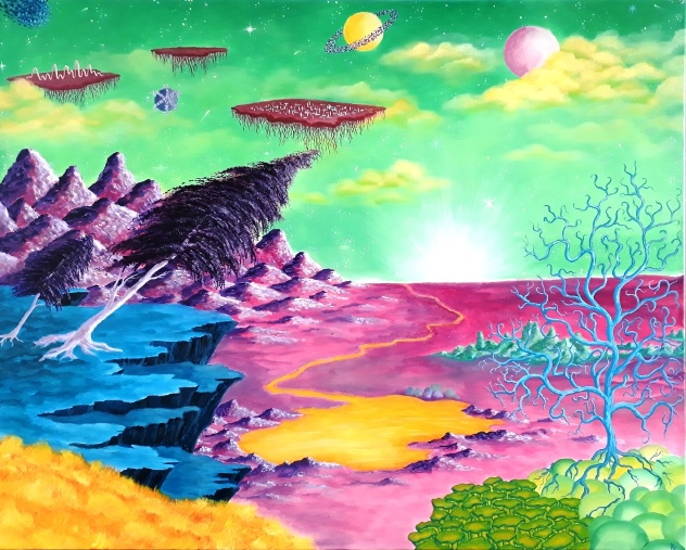 acryl, canvas,100x80cm opdracht
