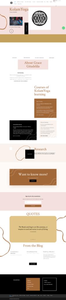 Webdesign voor client